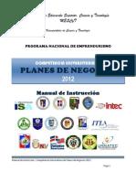 Manual de Instrucción Competencia Universitaria de Planes de Negocios 2012