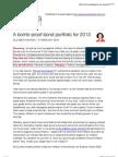 A Bomb-Proof bond Portfolio for 2013!