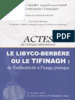 Actes Libyco-berbere Tifinagh