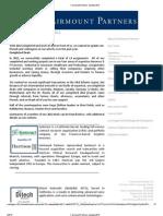 Fairmount Partners Update 2012