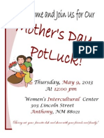 Mother's Day Potluck Celebration