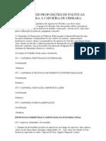 I SEMINÁRIO DE PROPOSIÇÕES DE POLÍTICAS PÚBLICAS PARA A CAPOEIRA DE UBERABA