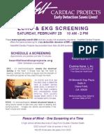Five Seasons Healthcare Cardiac Screening -- Sat. Feb. 23rd -- Dana Point!