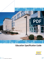 Education Specification guide