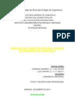 Análisis del Código de Ética del Colegio de Ingenieros de Venezuela