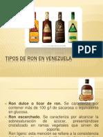 Tipos de Ron en Venezuela