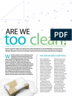 Are We Too Clean? Good Health, December 2012