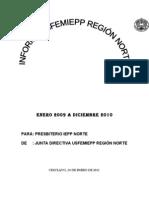 Informe Bianual 2009 - 2010 FEMENIL