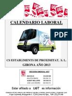Calendario Laboral CS 2013 Girona