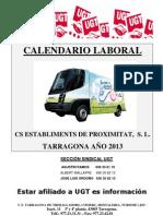 Calendario Laboral CS TGN 2013