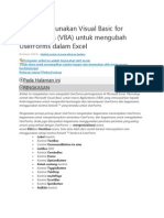 Cara Menggunakan Visual Basic for Applications
