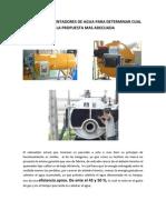 Analisis de Calentadores de Agua