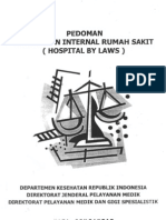 Pedoman Peraturan Internal Rs Hospital Bylaws
