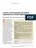 A Review of the Functional and Esthetic Requirement