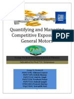 Hedging Strategy for GM to manage competitive currency exposure