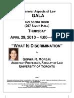 Sophia Moreau- What is Discrimination
