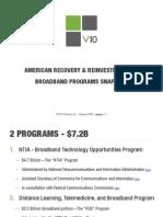 V10 Partners Broadband Stimulus Summary