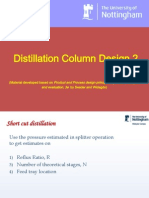 distillation column design 2