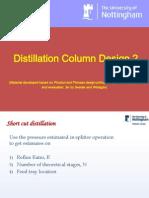 distillation column design 2