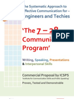 The 7 – 28 Communication Program' - A Systematic Approach to Effective Communication for – Engineers and Techies