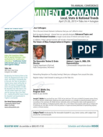 7th Annual Conference - Virginia Eminent Domain - Local, State & National Trends (Apr. 26-26, 2013)