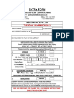 Entry Form - March 2013