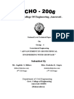 Advancement in Geotechnical Engineering with Geofoam