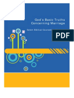 GOD'S BASIC PRINCIPLES FOR MARRIAGE