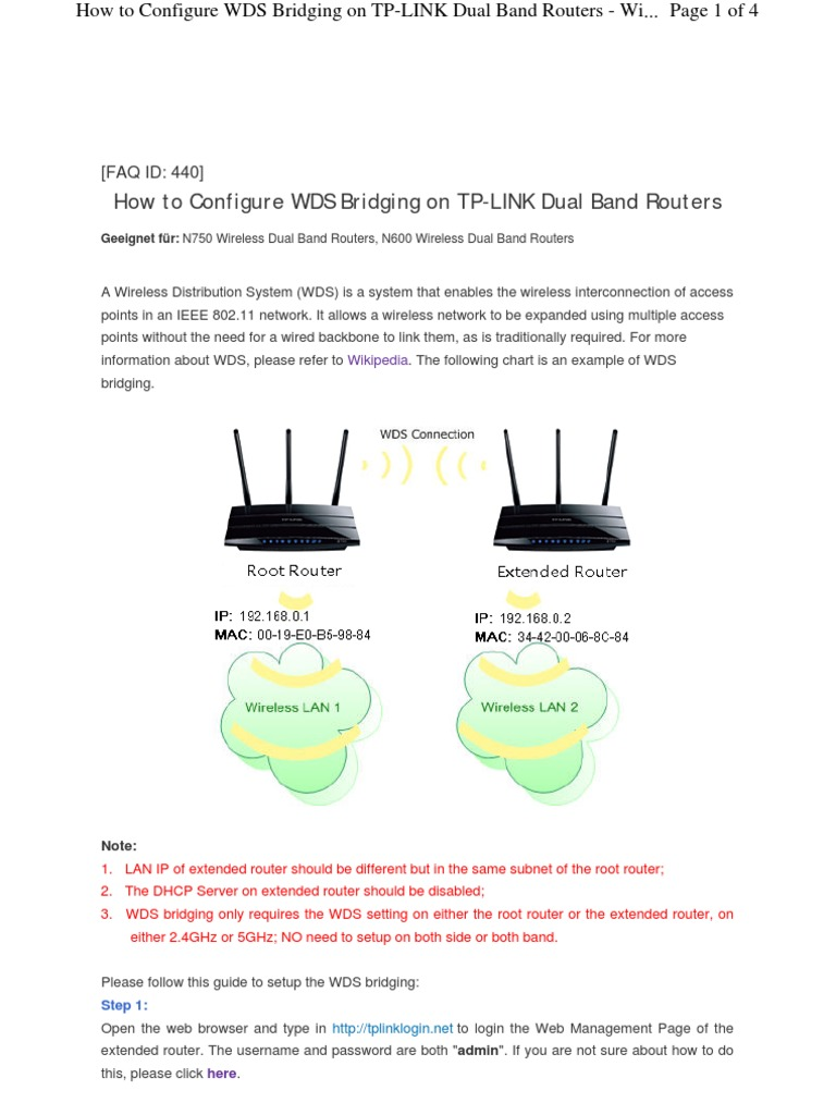 WDS ON TP LINK ROUTERS | Router (Computing) | Superuser
