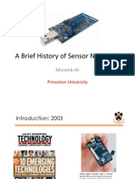 A Brief History of Sensor Networks
