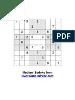 Medium Sudoku