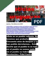 Noticias Uruguayas Martes 5 de Febrero Del 2013