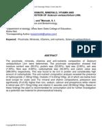 DETERMINATION OF PROXIMATE, MINERALS, VITAMIN AND ANTI-NUTRIENTS COMPOSITION OF Solanum verbascifolium LINN.