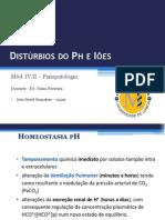 Pertubações Iónicas e Ph