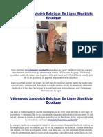 Vêtements Sandwich Belgique En Ligne Stockiste Boutique