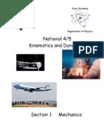 Kinematics and Dynamics Worksheets