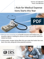Tougher New Rule for Medical Expense Deductions Starts this Year