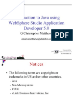 Introduction to Java with WebSphere Studio Developer - Version 5.0