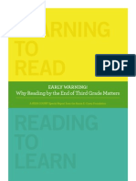 Why reading by the third grade matters