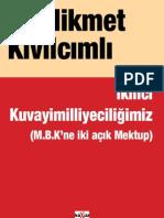 Hikmet Kivilcimli - Ikinci Kuvayi Milliyeciligimiz - Mbk'Ne Mektuplar