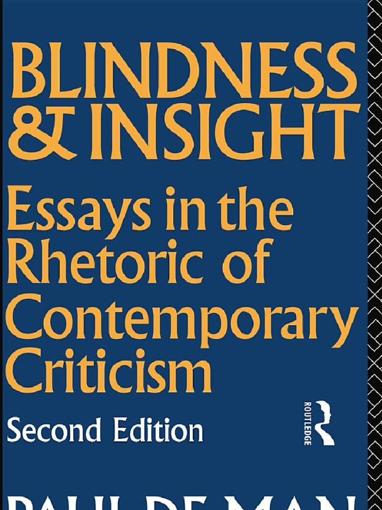 paul de man blindness and insight essays in the rhetoric  85277701 paul de man blindness and insight essays in the rhetoric of contemporary criticism edmund husserl phenomenology philosophy