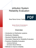Distribution network reliability prediction