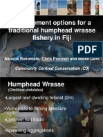 Community Centred Conservation C3 – Traditional humphead wrasse (Cheilinus undulatus) fisheries in the Pacific Islands – are they sustainable? A case study from Fiji. Akosita Rokomate-Nakoro, Chris Poonian and Maleli Qera