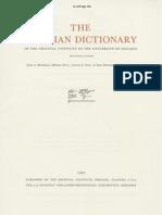 Dicionário Assírio - Volume XI - N Parte 2