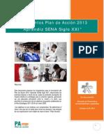 Lineamientos Plan de Accion 2013 Aprendiz Siglo Xxi