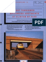 Post Tensioned Brickwork Abutments at Glinton by Pass - Engineers File Note 12