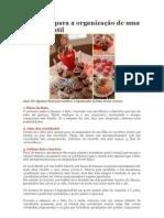 10 etapas para a organização de uma festa infantil