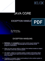 exception in java