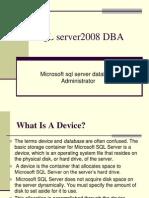 SQL server2008 DBA