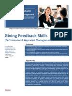 Giving Feedback Skills (Performance & Appraisal Management)